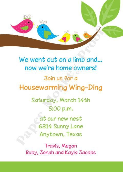 For House Warming Party Invitations