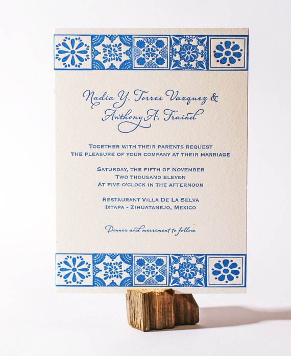 mexican wedding invitations mexican wedding invitations in 5862