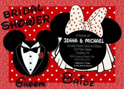 Mickey And Minnie Custom Invitations