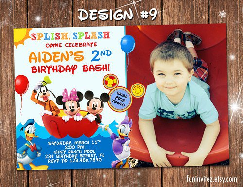 Mickey Minnie Mouse Invitations