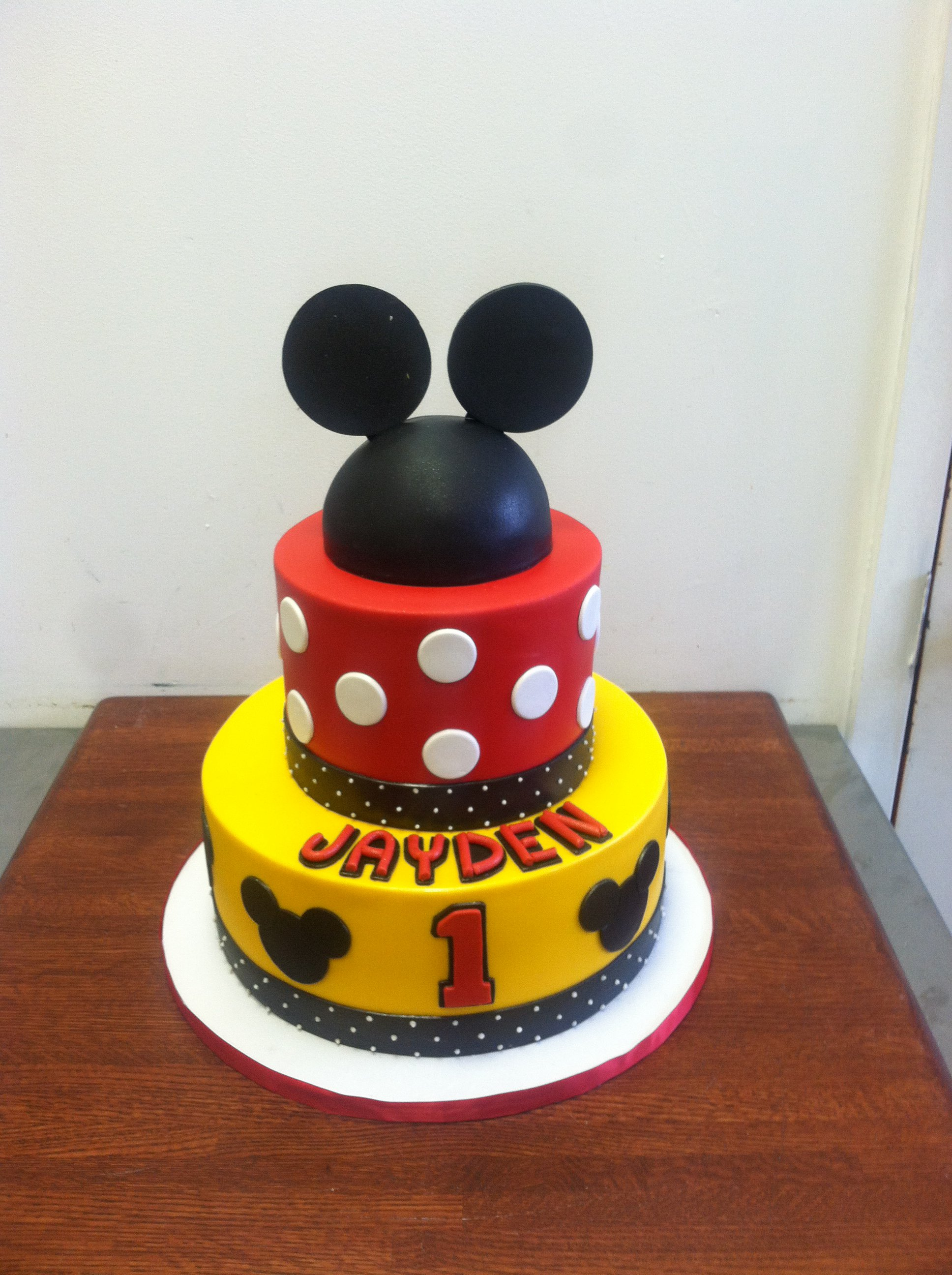 Mickey Mouse First Birthday Cake Ideas Image Inspiration of Cake