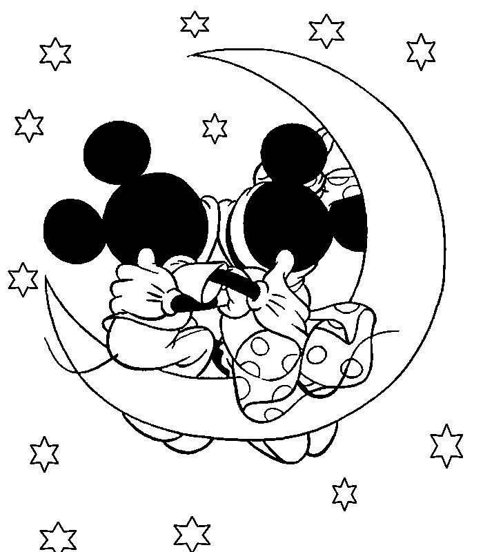 Mickey Mouse Birthday Printable Coloring Pages