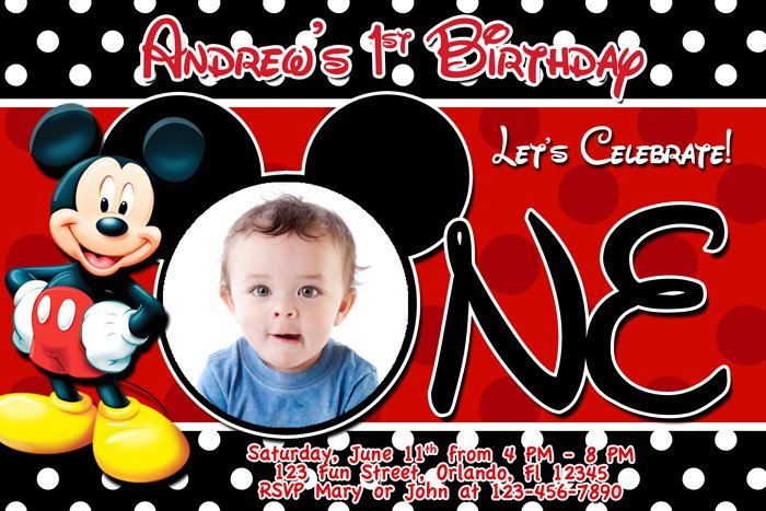 Mickey Mouse Clubhouse Birthday Printable Invitation