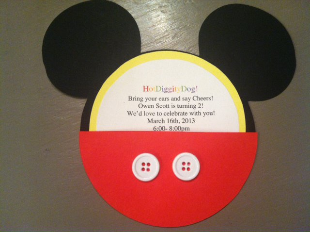 Mickey Mouse Ears Invitation Template