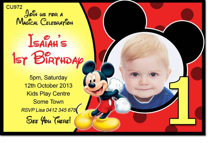 Mickey Mouse Templates Free Download – Mickey Mouse Invitation Template
