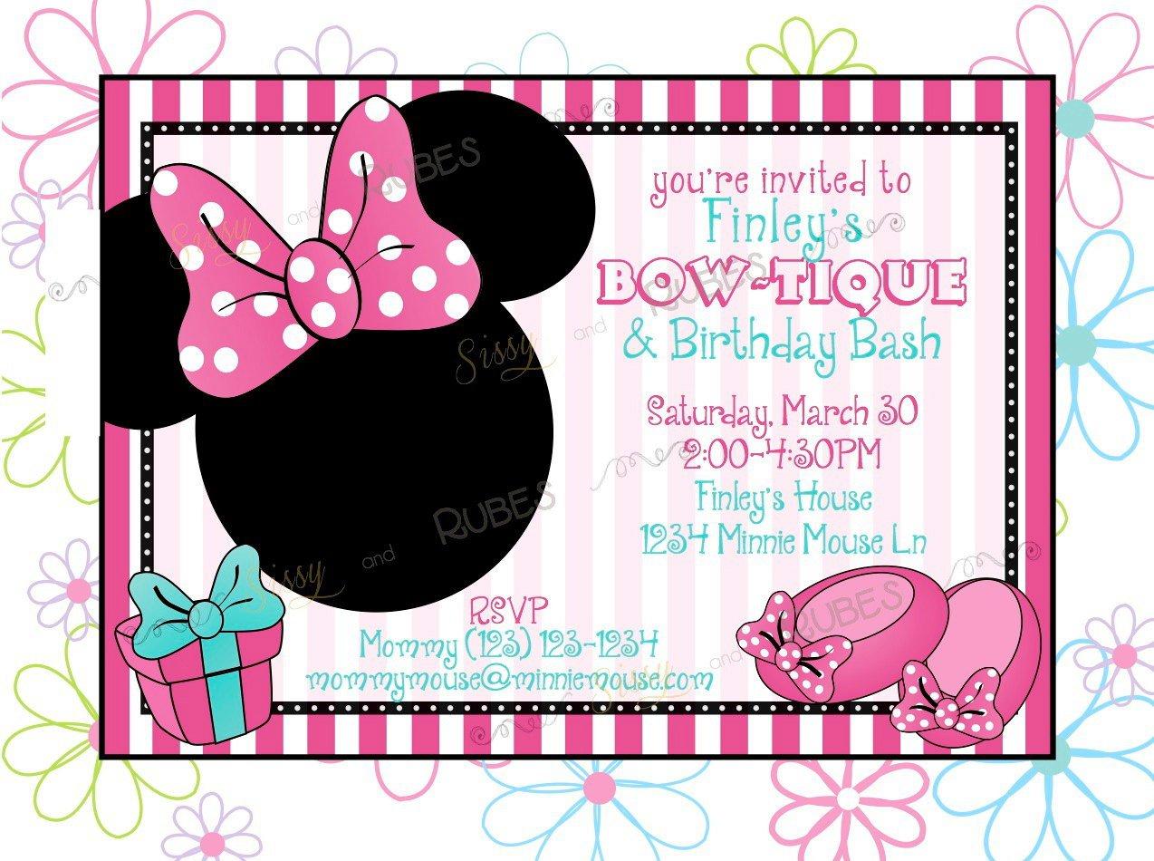 Mickey Mouse Invitation Templates Blank