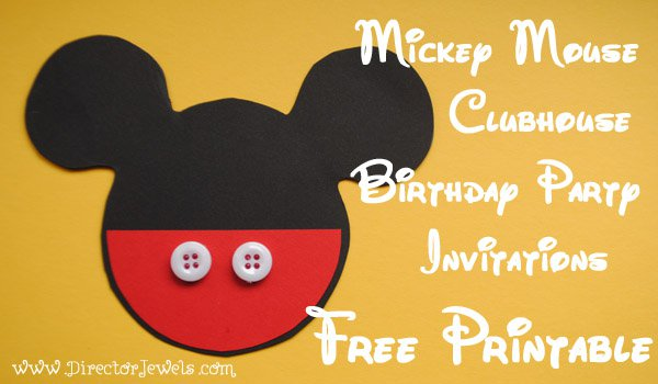 Mickey Mouse Invitation Tutorial