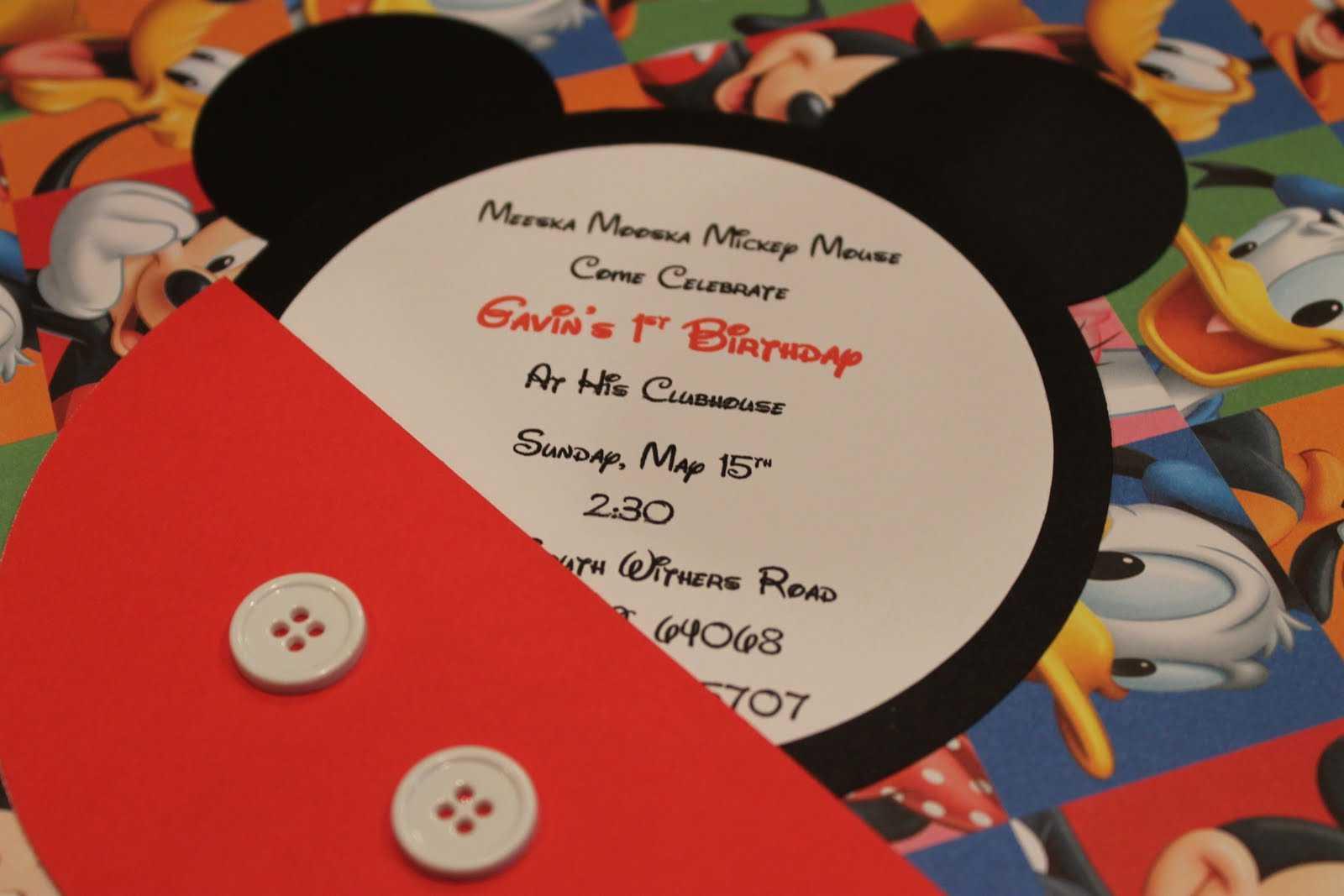 Mickey Mouse Invitations Handmade