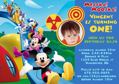 Mickey Mouse Oh Toodles Invitations