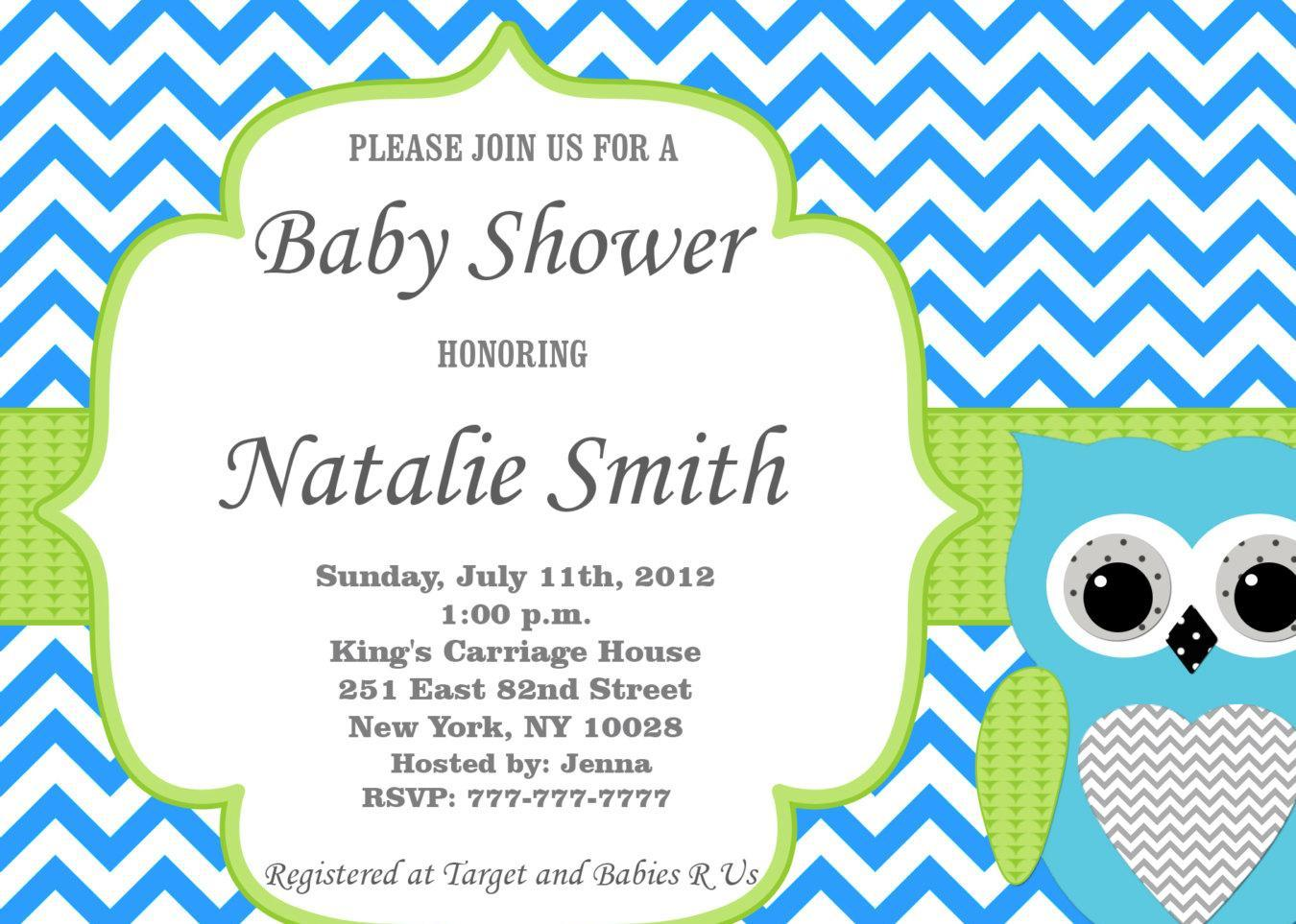 baby shower invitation template microsoft word free printable