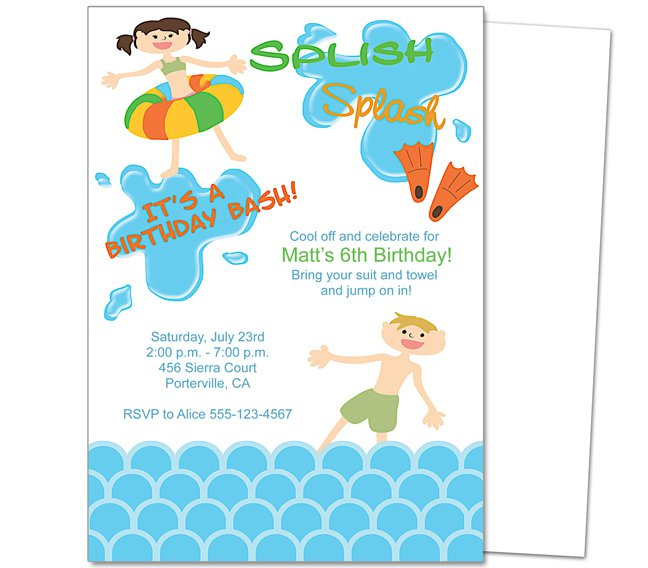 pool party invitation templates word - Party Invitation Template Word