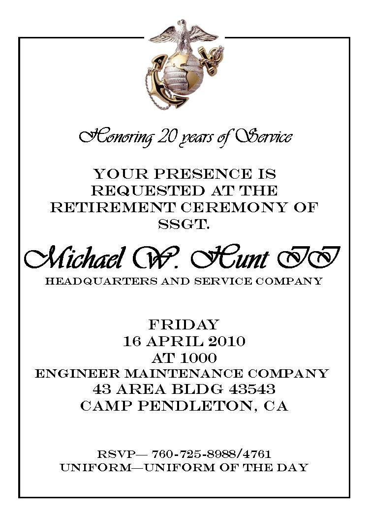Military Invitations Templates
