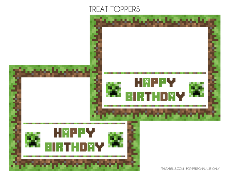 Minecraft Invitation Templates