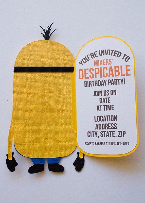 Minion Party Invitation Girl Templates