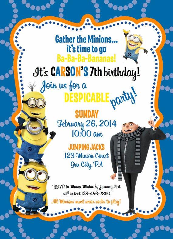 Minion Pool Party Invitation Templates