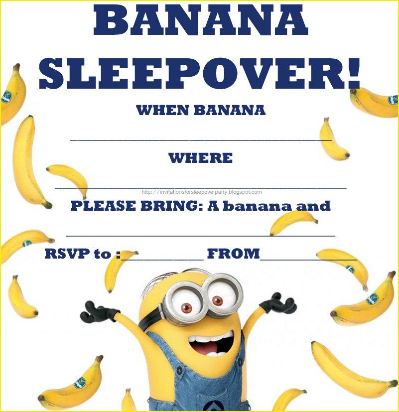 Minion Sleepover Invitations