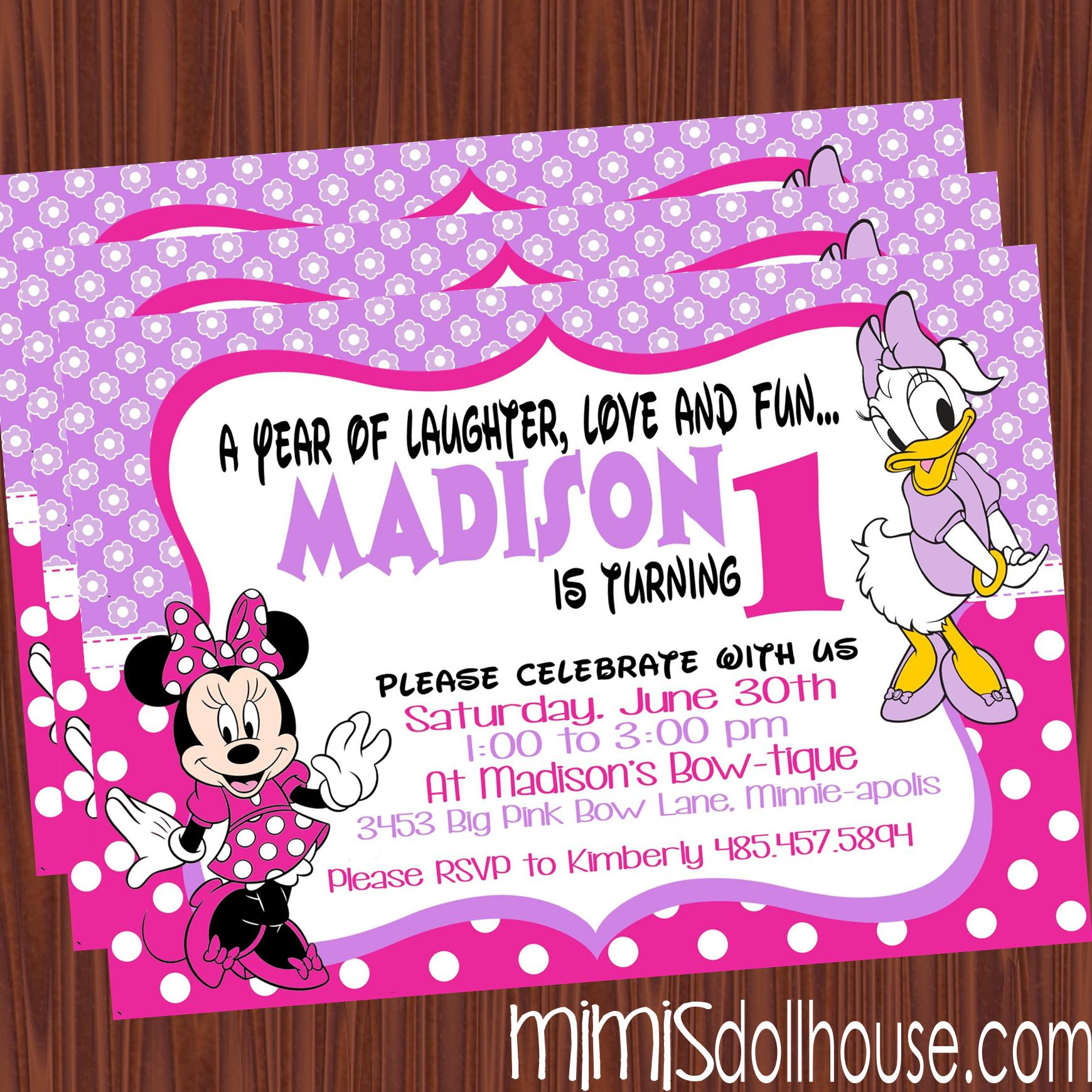 Daisy Duck Birthday Invitations
