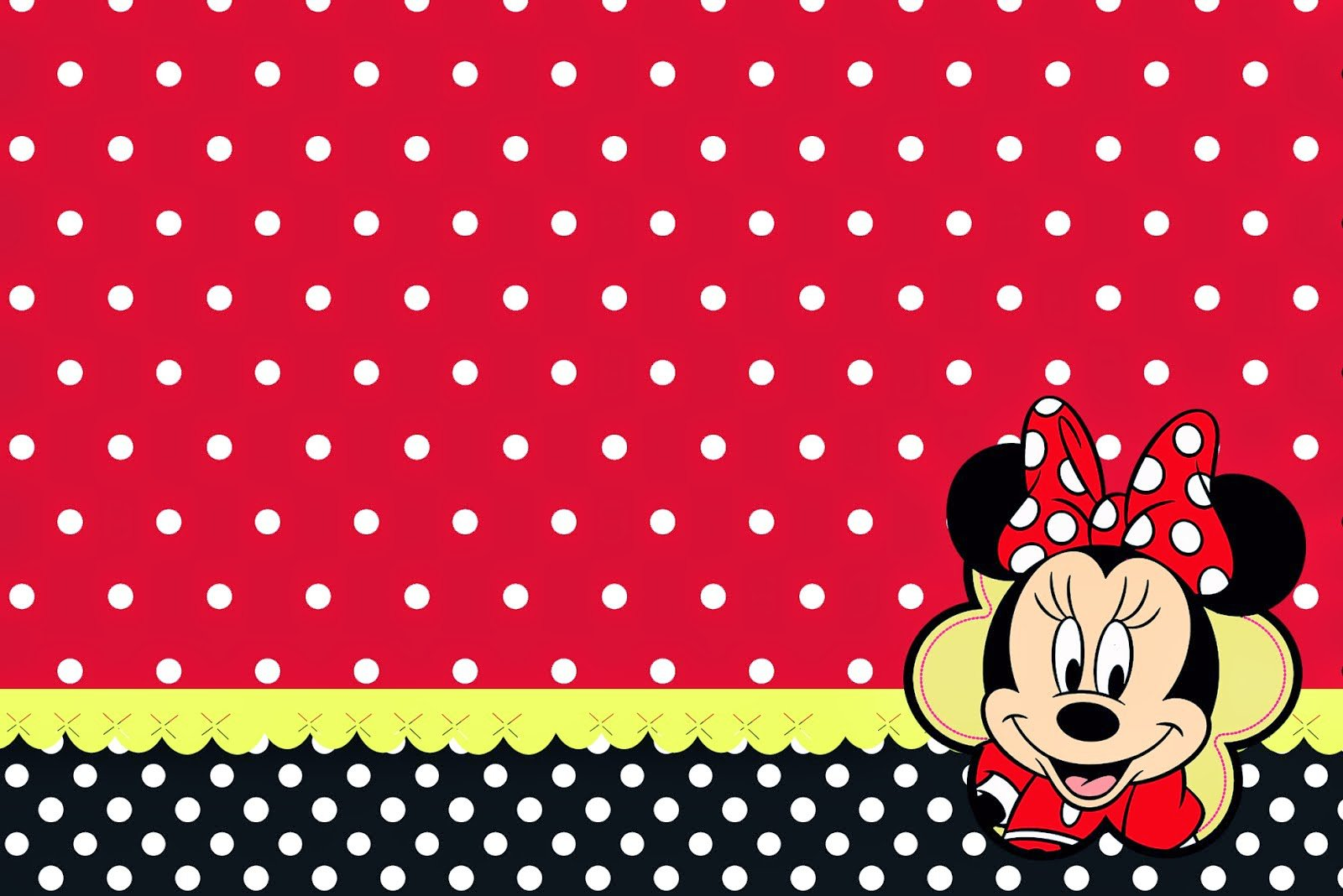 Minnie Mouse Invitation Backgrounds
