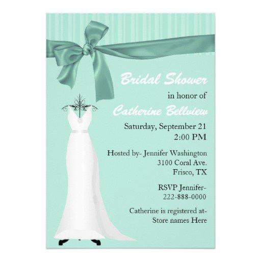 Mint Green Bridal Shower Invitations