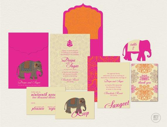 indian wedding invitations, Wedding invitations
