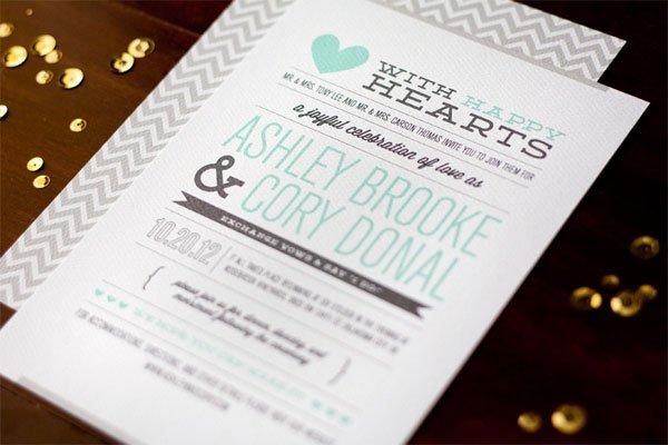 Modern Wedding Invitation Cards Designs