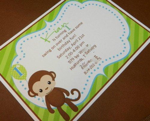 Monkey 1st Birthday Invitation Wording