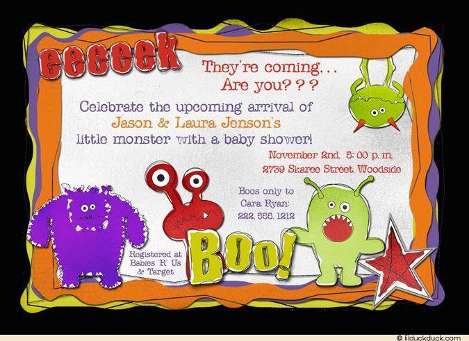 Monster Bash Invitation Wording
