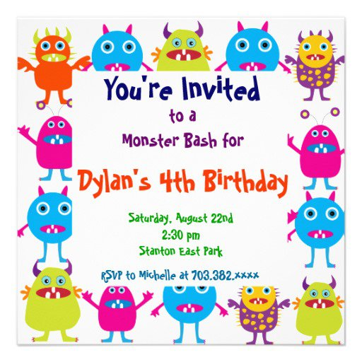 Monster High Birthday Invitation Templates
