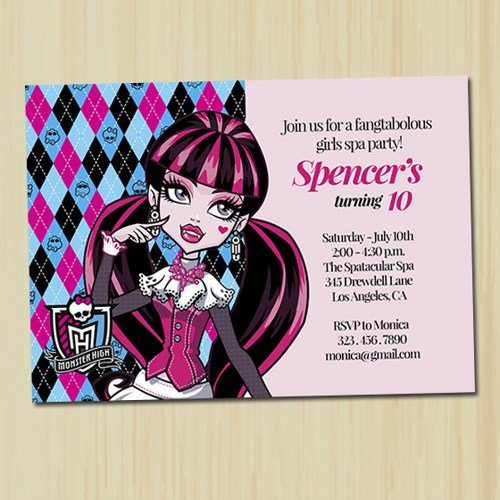 Monster High Birthday Party Invitations Printable