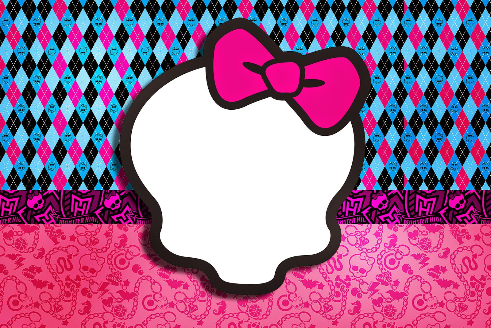 Monster High Invitation Backgrounds