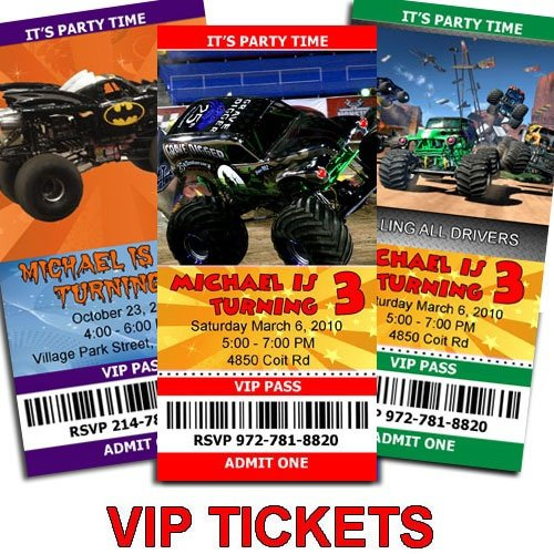 Monster Truck Invitation Templates Free