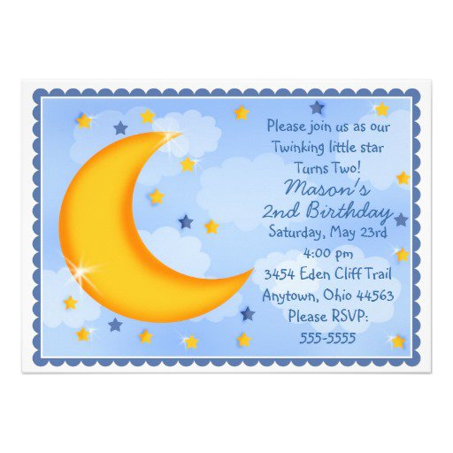 Moon And Stars Party Invitations