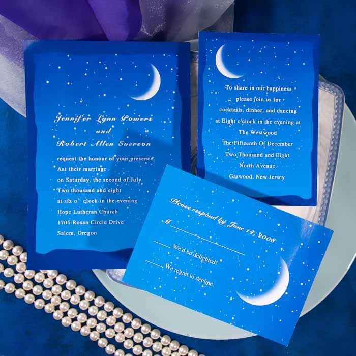 Moon And Stars Wedding Invitations