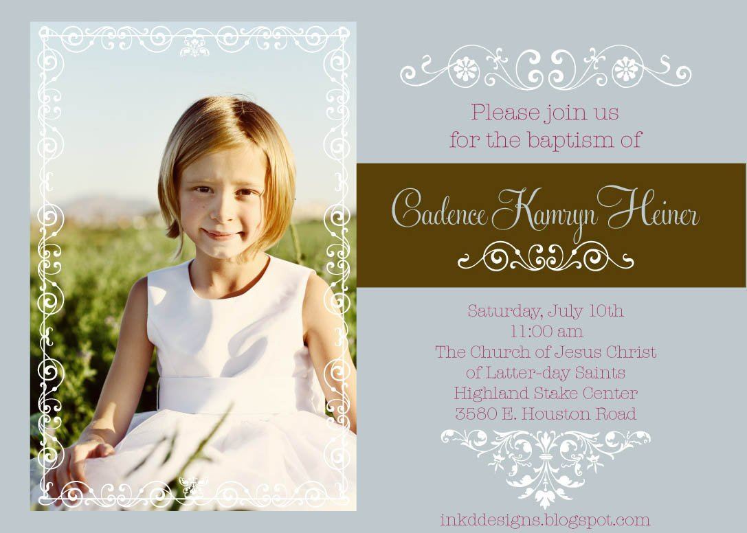 Mormon Baptism Invitations