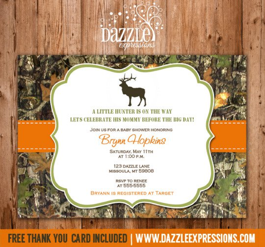 Mossy Oak Camo Party Invitations