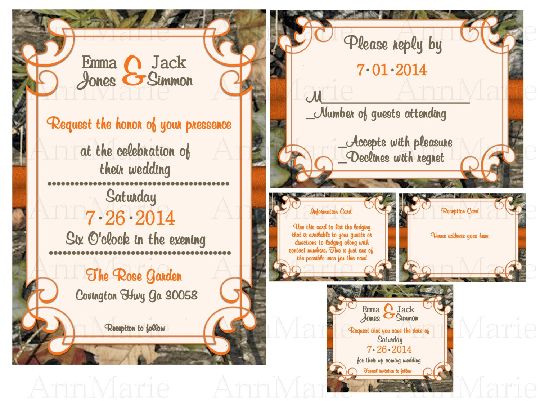 Mossy Oak Wedding Invitations