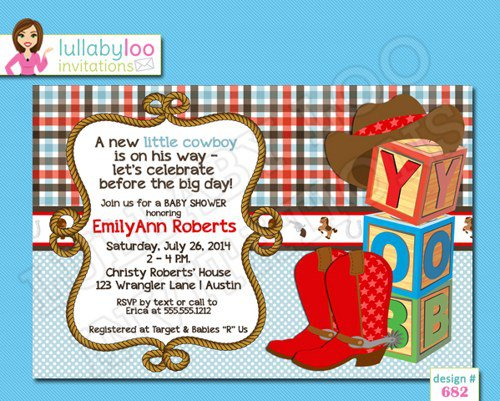 Motorcycle Baby Shower Invitations