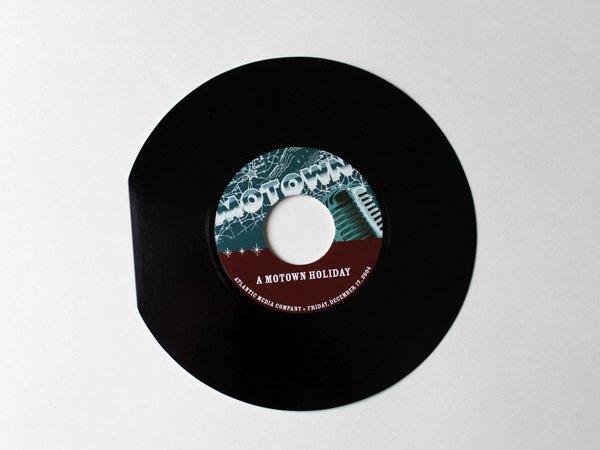 Motown 45 Record Invitation