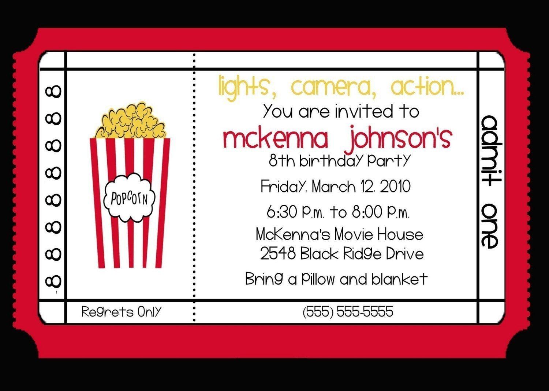 Movie Theater Invitations