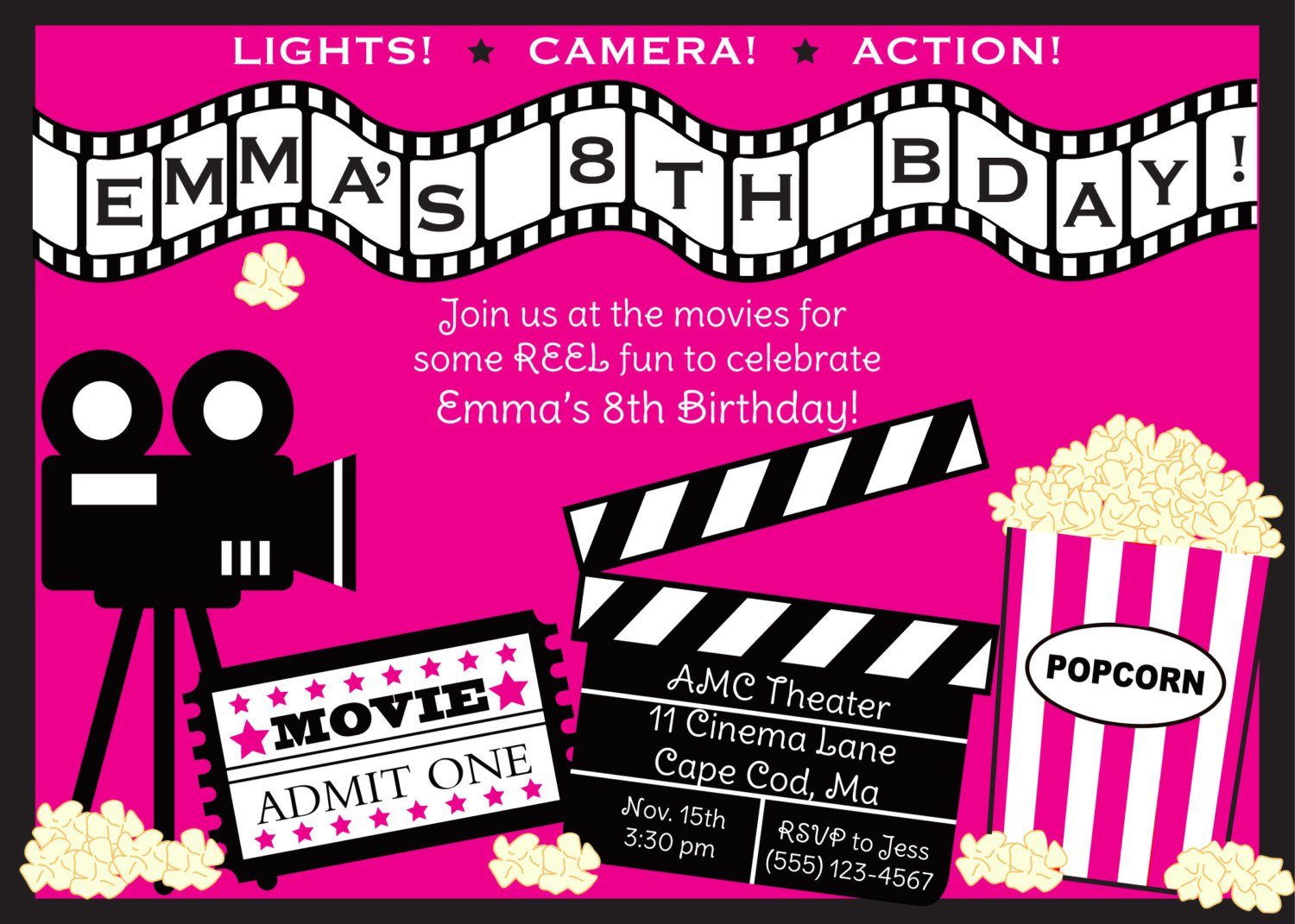 Movie Theater Invitations Templates Free