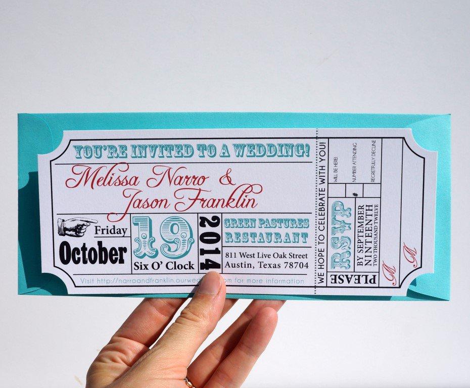 Movie Theater Wedding Invitations