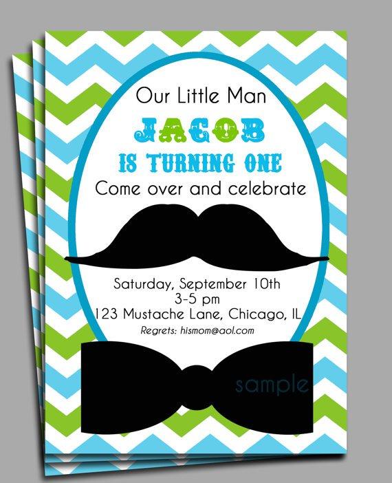 Mustache Baby Shower Invitation Wording