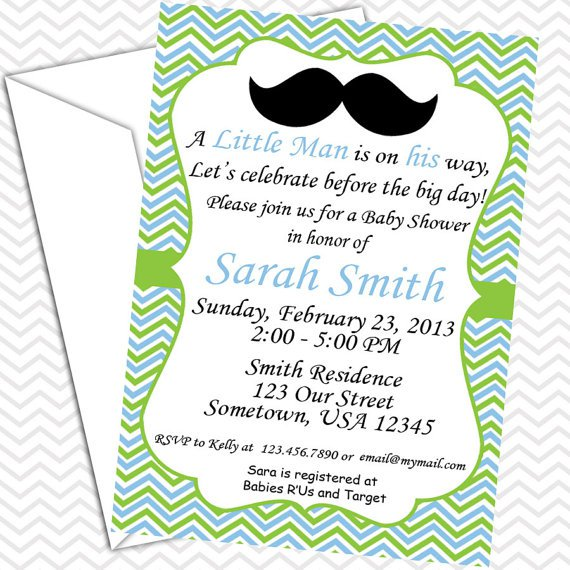 Mustache Bash Invitations Etsy