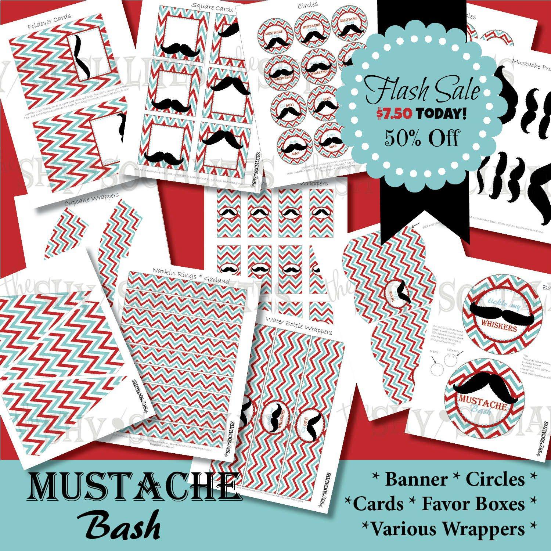 Mustache Invitation Templates