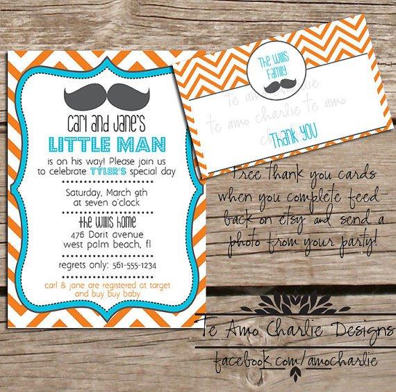 Mustache Invitation Templates Free