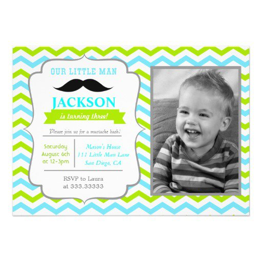Mustache Party Invitations Templates