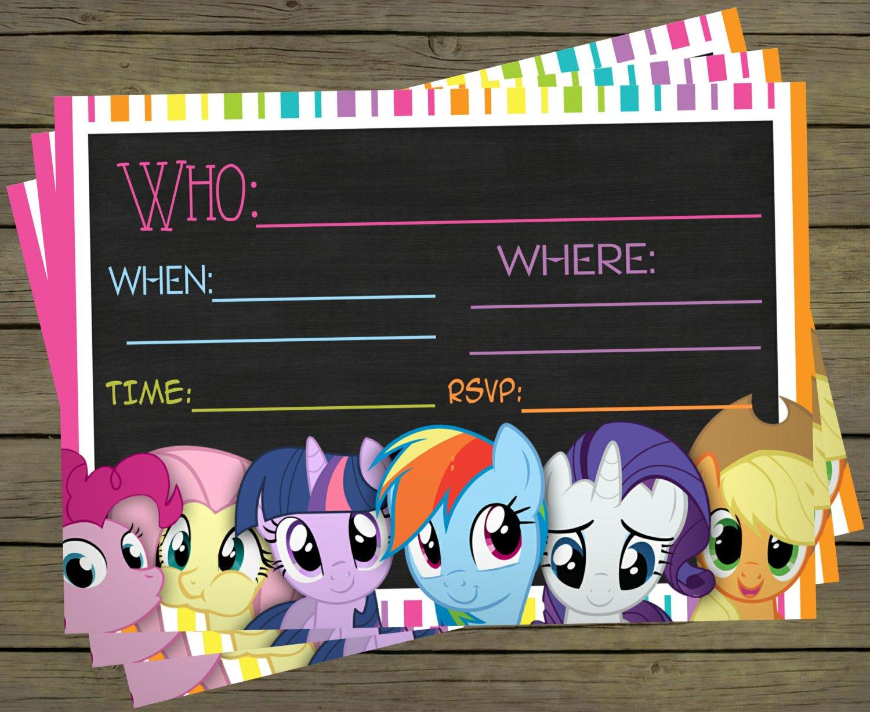 My Little Pony Birthday Invitations Blank