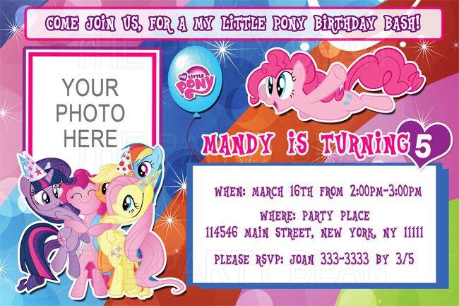 My Little Pony Birthday Invitations Walmart