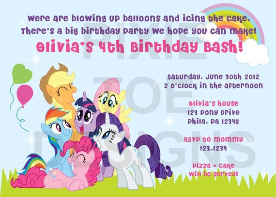 My Little Pony Invitation Ideas