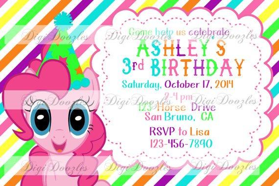 My Little Pony Invitation Wording